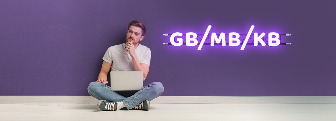 Banner do  post O que é giga, mega, kbps e mbps? Entenda os significados e diferenças