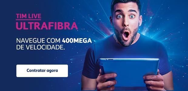 TIM Live Ultrafibra navegue com 200 400 mega internet fibra ótica banda larga